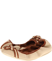Burberry - Cotton Gabardine Belted Ballerinas