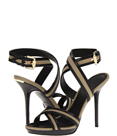 Burberry - Leather and Canvas Sandals
