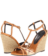 Burberry - Haymarket Check Wedge Sandals