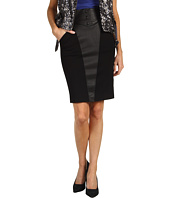 Catherine Malandrino - Mixed Stretch Leather and Ponte Skirt