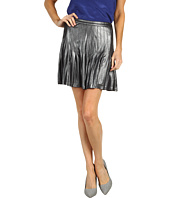 Catherine Malandrino - Metallic Pleated Mini Skirt