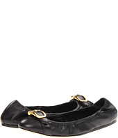 Burberry - Equestrian Buckle Leather Ballerinas