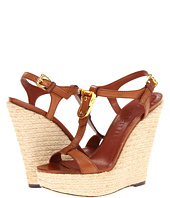 Burberry - Equestrian Buckle Leather Wedges