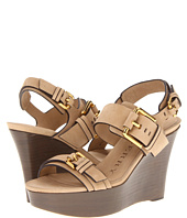 Burberry - Buckle Detail Nubuck Wedge Sandals