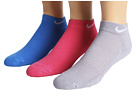 Nike - Cotton Cushioned Low Cut with Moisture Management 3-Pair Pack (Wolf Grey/White/Pink/White/Light Photo Blue/White)