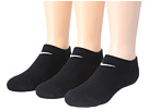 Nike - Cotton Cushioned No Show with Moisture Management 3-Pair Pack (Black/White)