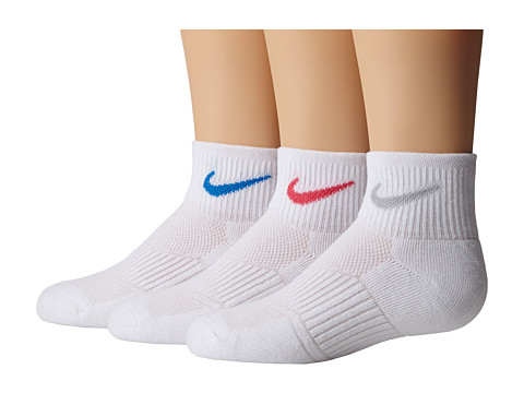 Nike Cotton Cushioned Quarter with Moisture Management 3-Pair Pack