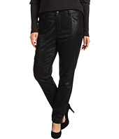 NYDJ Plus Size - Plus Size Sheri Skinny w/ Black Metallic Gilded Lily in Black