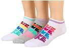 Nike - Sportswear Lightweight Logo No Show 3-Pair Pack (White/Black/Hyper Red/Atomic Teal/White/Electric Orange/Pink/Gre)