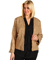 MICHAEL Michael Kors Plus - Plus Size Sequin Boucle Frayed Edge Jacket