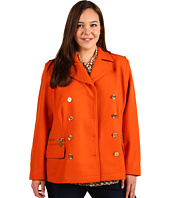 MICHAEL Michael Kors Plus - Plus Size Melton Double Breasted Peacoat
