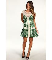 ABS Allen Schwartz - Floral Dress w/Crochet Detail Trim