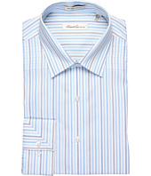 Kenneth Cole New York - Non-Iron Slim Striped Cotton L/S Dress Shirt