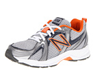 New Balance Kids KJ554 Little Kid, Big Kid Grey, Blue, Orange Shoes