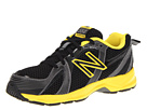 New Balance Kids KJ554 Little Kid, Big Kid Black, Yellow Shoes