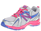 New Balance Kids KJ554 Little Kid, Big Kid Silver, Pink Shoes