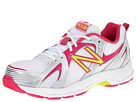 New Balance Kids KJ554 Little Kid, Big Kid White, Pink Shoes