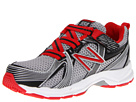 New Balance Kids KV554 Little Kid, Big Kid Grey, Red Shoes