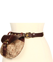 MICHAEL Michael Kors - Vintage Leather and Monogram Jacquard Belt Bag