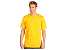 Nike Legend Dri-FIT Poly S/S Crew Top (University Gold/Dark Grey Heather/Matte Silver) Men's Short Sleeve Pullover