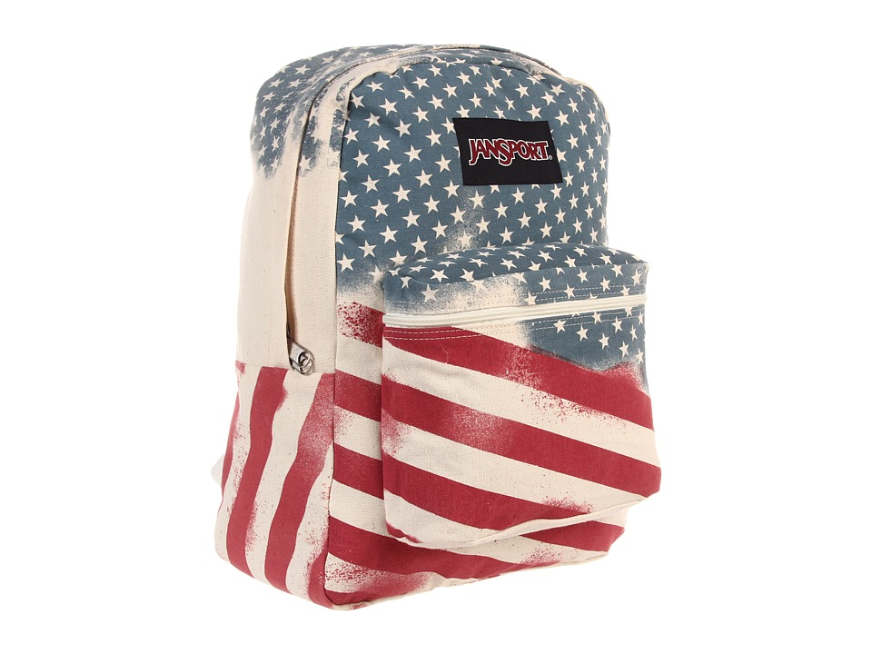 JanSport Super FX Series White Faded Stars Backpack Bags
