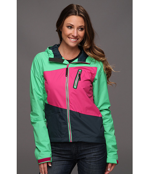 The North Face - Woodchip Jacket (Mojito Green/Fuschia Pink/Kodiak Blue) - Apparel