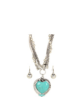 Nocona - Turquoise Heart Necklace/Earring Set