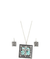 Nocona - Square Cross Concho Necklace/Earring Set