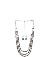 Nocona - Antiqued Bead Triple Strand Necklace/Earring Set