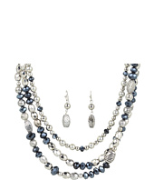 Nocona - Triple Layer Beaded Necklace/Earring Set