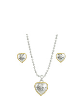 Nocona - Engraved Heart Necklace/Earring Box Set