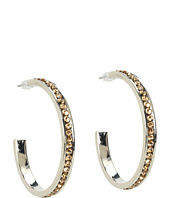 Nocona - Medium Crystal Hoop Earrings