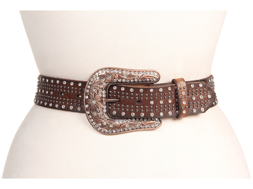 M&F Western - Studded Belt w/ Bronze Buckle (Brown) Women...