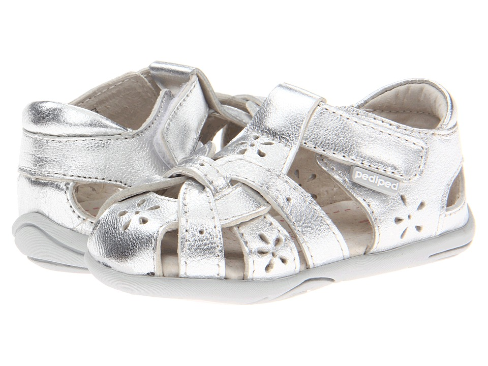 pediped Nikki Grip 'n' Go (Toddler) (Silver) Girl's Shoes