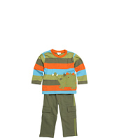 le top - My Pet Dino Wide Stripe Shirt & French Terry Pant (Infant/Toddler)