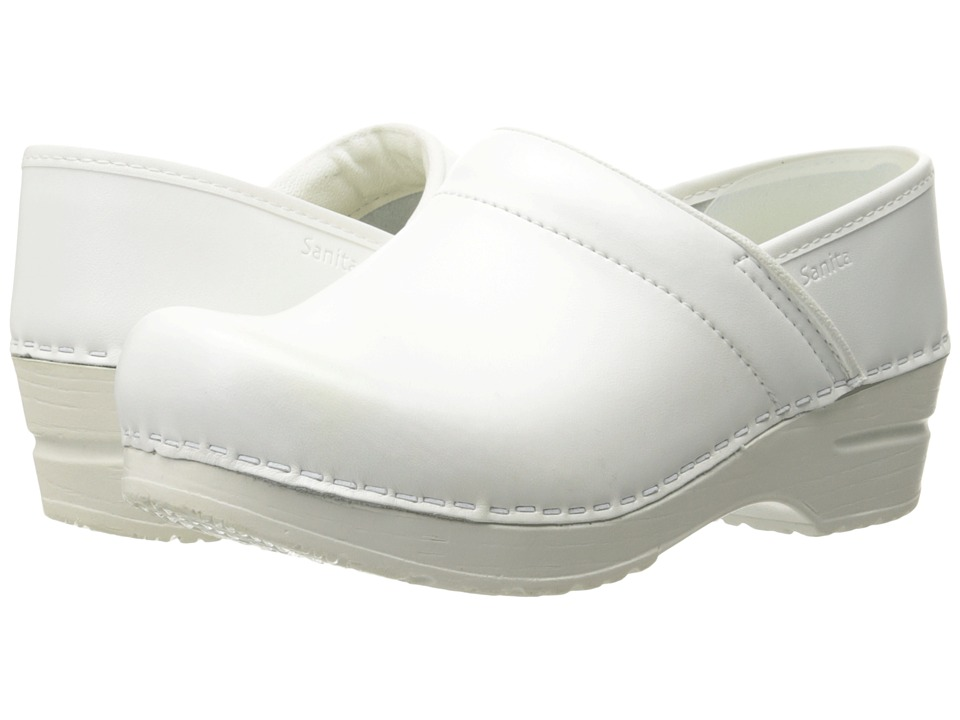 Sanita - Professional PU (White) Womens Clog Shoes