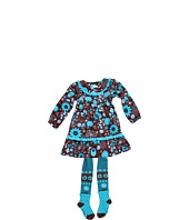 le top - Pretty As A Flower Corduroy Dress & Tights (Toddler/Little Kids)
