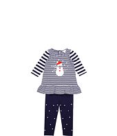 le top - Snow Day Stripe Tunic w/ Hem Ruffle & Legging (Infant/Toddler)