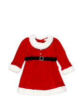 le top - Santa's Helpers Velour Dress w/ Rhinestone Buckle (Infant/Toddler)