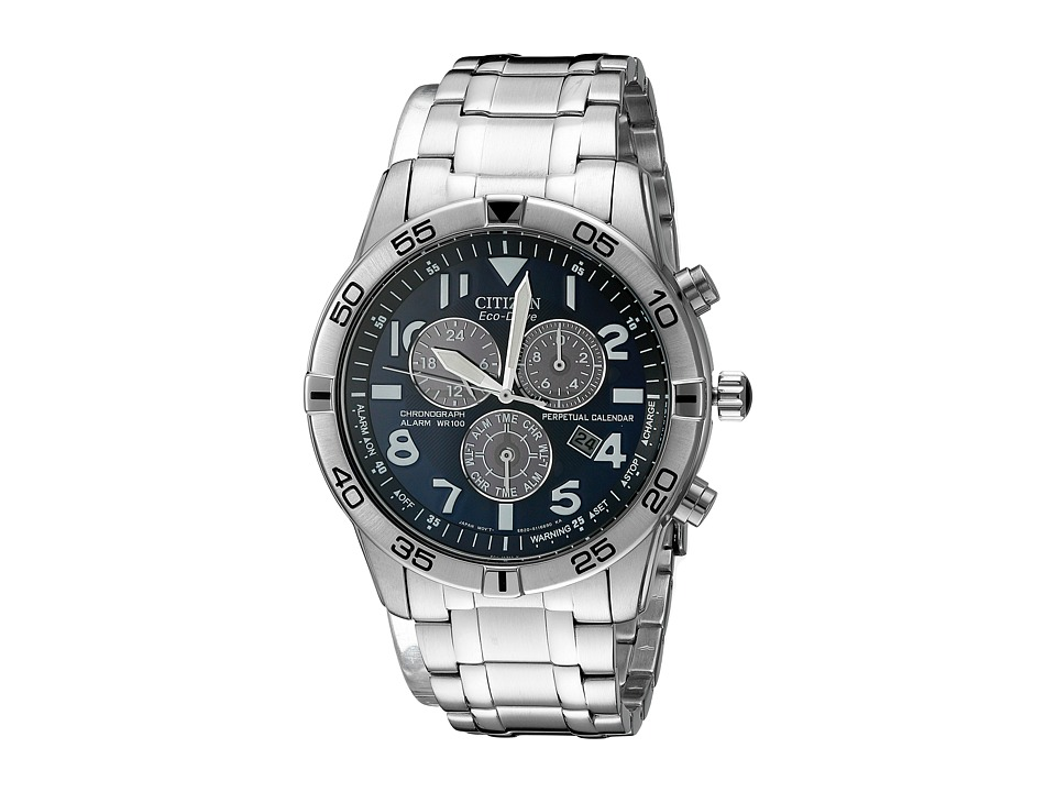 Citizen Watches BL5470 57L Eco Drive Stainless Steel Perpetual Calendar Chronograph Watch Silver Tone Stainless Steel Chronograph Watches
