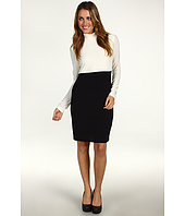 ABS Allen Schwartz - Two-Tone Turtle Neck Dress