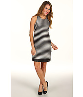 ABS Allen Schwartz - Sleeveless Houndstooth Sheath Dress