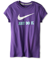 Nike Kids - Just Do It Swoosh Tee (Little Kids/Big Kids)
