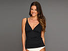 Tommy Bahama - Pearl Solids V-Neck Tankini Top (Black) - Apparel