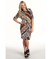 Calvin Klein - Print Roll Sleeve Dress