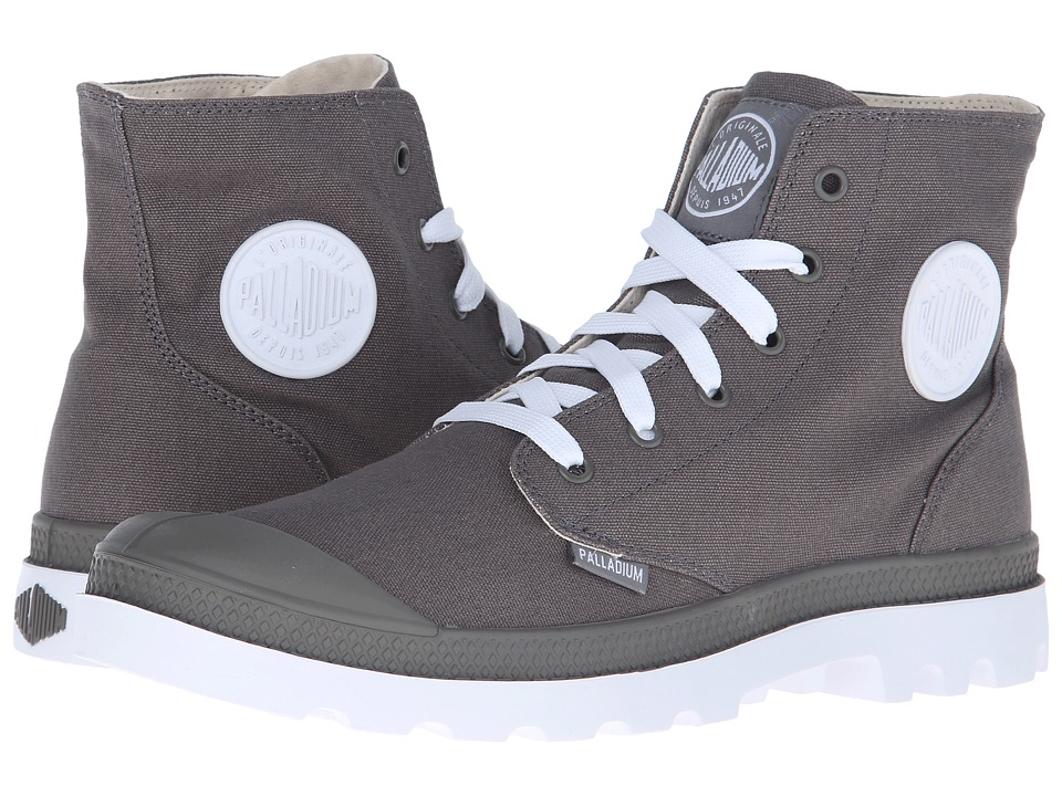 Palladium Pampa Hi Sport Metal/White Lace up Boots