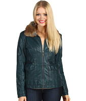 Jessica Simpson - Pleather Jacket w/ Faux Fur Trim