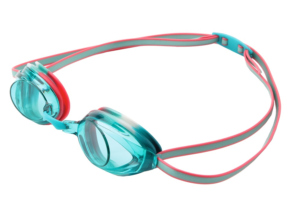 Speedo - Jr. Vanquisher 2.0 (Turquoise/Orange/Aqua Lens) Water Goggles