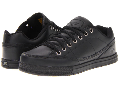 Skechers Gibson Arias Black Slip Resistant Non Slip Work Canvas