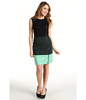 Laundry by Shelli Segal - Colorblock Zipper Ponte Dress